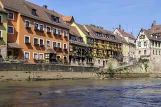 Fachwerkhaeuser in Stein an der Rednitz, Bayern. Deutschland