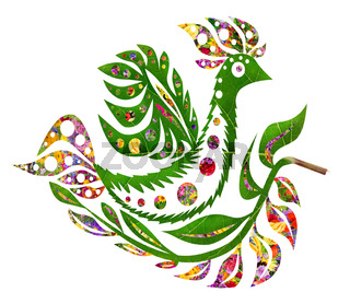 Floral summer  bird Phoenix