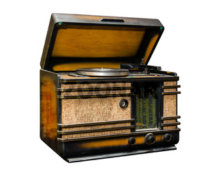 old radio, side view