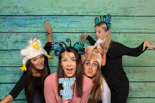 verrückte hühner auf einer photobooth party