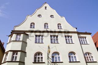 Alte Häuserfassaden in Dinkelsbuehl – Franken