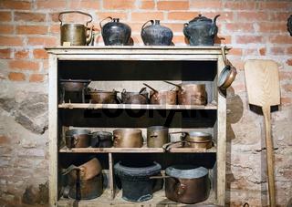 Vintage copper cookware