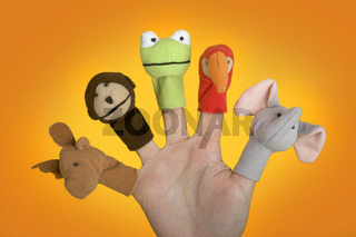 Hand with puppets