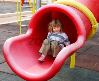 The girl on the playground