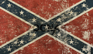 Old grunge American US confederate flag