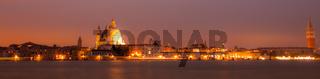 Panorama By Night Of Venice, italian City