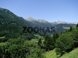 Mountains near San Bernadino Pass in Switzerland