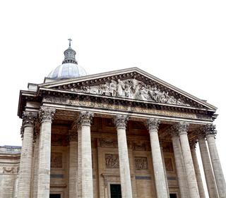 Pantheon in Paris on white background