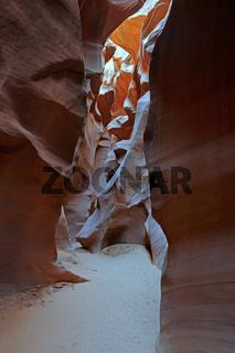 Weg im Antelope Slot Canyon, Arizona, USA