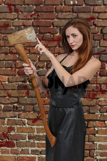 Woman with an axe