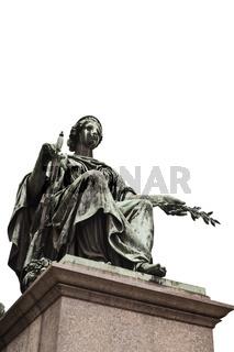 Statue im Innenhof der Hofburg, Wien, Österreich, Europa / statue in the patio of the Hofburg in Vienna, Austria, Europe