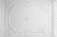 beautiful stucco ceiling in old building