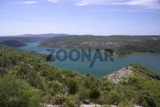 Flusslauf der Krka, Kroatien
