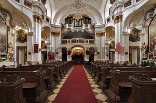 Barocke Kirche in Dürnstein in der Wachau, Waldviertel, Niederösterreich, Österreich, Europa