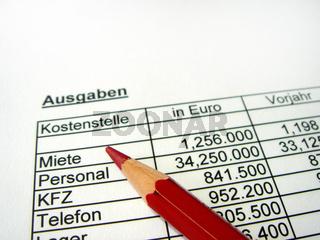 Symbolbild Kostenrechnung / Symbolphoto cost accounting