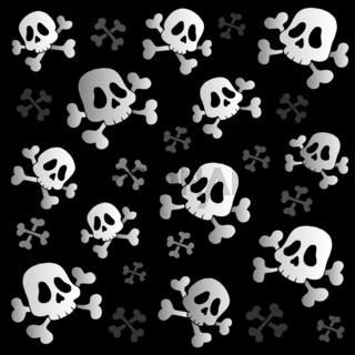 Pirate skulls and bones - thematic illustration.