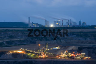 blaue Stunde im Tagebau