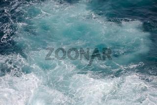 Waves hitting shore