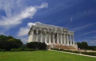 Das Lincoln Memorial im Stil eines griechischen dorischen Tempels