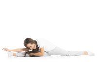 Girl doing split exercise
