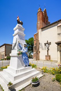 Denkmal für die Gefallenen des Ersten Weltkrieges, Caignac, Frankreich