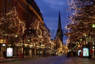 Mönckebergstrasse zur Weihnachtszeit