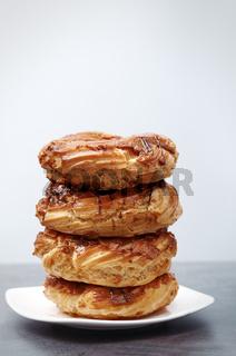 Glazed Doughnuts on a dessert plate
