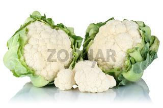 Blumenkohl frisch geschnitten Gemüse Freisteller freigestellt isoliert