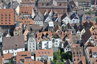 Blick vom Ulmer Münster auf die Altstadt, Ulm, Baden-Württemberg, Deutschland, Europa