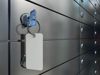 Safe deposit boxes and key