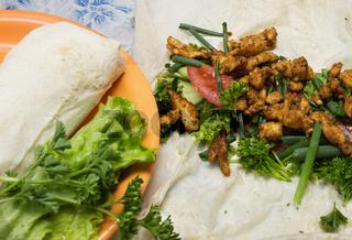 Shawarma is prepared in the home