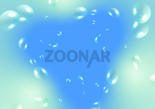 air bubbles on blue gradient background