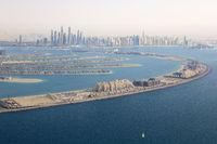 Dubai The Palm Jumeirah Palme Insel Marina Luftaufnahme Luftbild