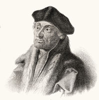 Erasmus Desiderius von Rotterdam, 1465 - 1536, a Dutch humanist, theologian, philosopher, scholar and author,
