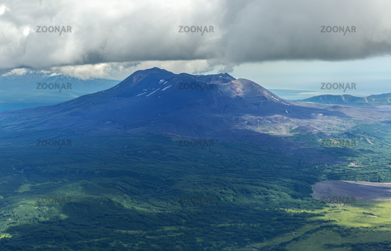 Maly Semyachik is a stratovolcano. Kronotsky Nature Reserve on Kamchatka Peninsula.