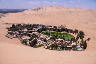 Hucachina oasis and sand dunes, Peru