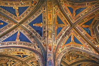 Baptisterium im Dom von Siena, Toscana, Italy