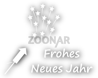 Frohes Neues Jahr mit Feuerwerk - Happy New Year with fireworks