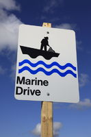 Roadside sign for the famous Marine Drive at Nova