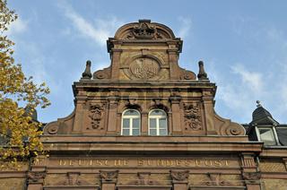Historisches, leerstehendes Gebäude der Deutschen Bundespost, Poststraße in Duisburg, Nordrhein-Westfalen, Deutschland, Europa