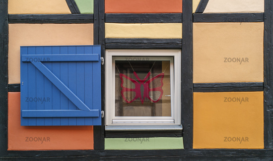 Window detail in the half-timbered house