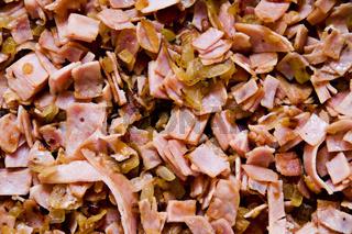 Gerösteter Schinken und Zwiebel * Roasted ham and bulb