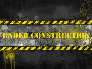 Under construction, poster, symbol.