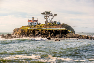 Battery Point Lighthouse at Pacific coast, built in 1856