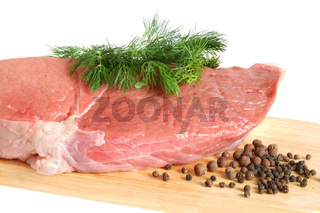 Raw beef meat