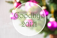 Blurry Balls, Rose Quartz, Text Goodbye 2017