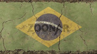 Old grunge faded Federative Republic Brazil flag