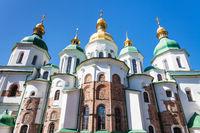 view of Saint Sophia Cathedral in Kiev city