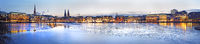 View over Alster, Hamburg Germany, Europe