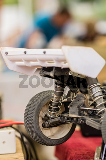 Maintenance of radio-controlled model of the car in a break between competitions